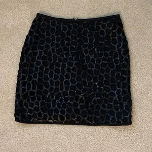 Sequined Black Mini Skirt